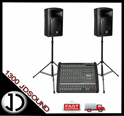 Dynacord PM1000-3 powered mixer + EV ZX4 speakers + cables