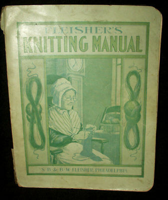Antique Victorian Clothing Knitting Manual Needlework Instruction Book