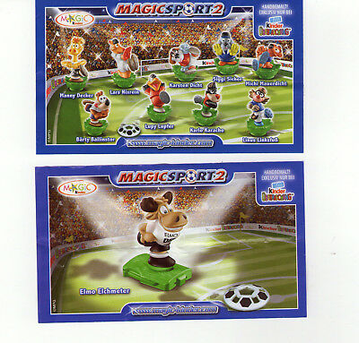 Ferrero Komplettsatz MAGIC SPORT 2 + ELMO ELCHMETER + alle BPZ * TOP *