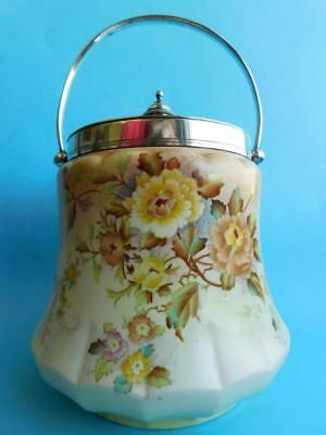 Lovely Wiltshaw and Robinson CARLTON WARE Porcelain Biscuit Barrel PEONY Pattern