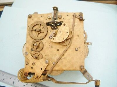 clock makers Smiths mantel  Clock movement 3 train WITH floating Balance K7A
