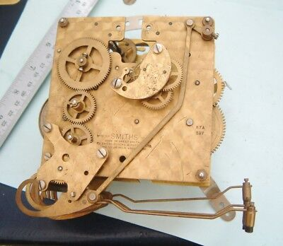 Smiths mantel  Clock movement 3 train WITH floating Balance K7A PARTS Missing