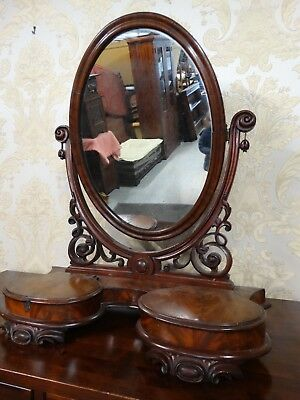 Fabulous antique Victorian extra large dressing Table top mirror. loo mirror b