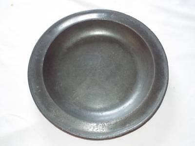 """Antique Georgian 14.5"""" pewter plate bowl by John Duncombe 1718-1745"""