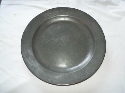 """Antique Georgian 16.5"""" pewter charger by John Duncombe 1718-1745"""