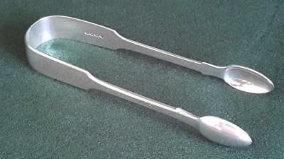 TG2: H/M Sterling Silver Antique Victorian Sugar Tongs Ldn 1840 62.8g