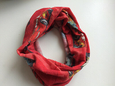 Cars SNOOD Kinder Schal Loop Stirnband Halstuch Schlauchschal Lightning McQueen