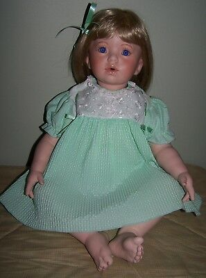BABY SHAY PORCELAIN HEADED DOLL By Donna RuBert - DAMAGED LEG