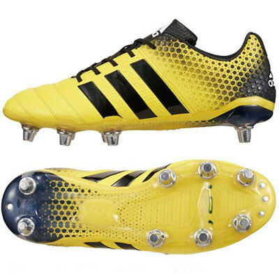 adidas Adipower Kakari 3.0 SG miCoach Compatible 8 Stud Rugby Boots rrp£100