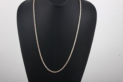 "28/""925 STERLING SILVER ROPE CHAIN NECKLACE 2.5MM 22g E193"