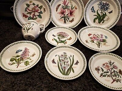 Portmeirion Botanic Garden 4 Dinner plates 4 side plates 1 jug all in great cond
