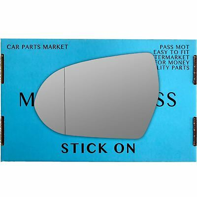 Left passenger side Wide Angle Wing mirror glass for Nissan GT-R 2008-17 Heated