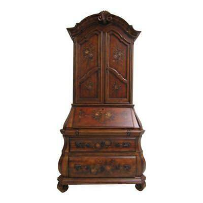 Ethan Allen Tuscany Bombay Paint Decorated Drop Front Secretary Desk