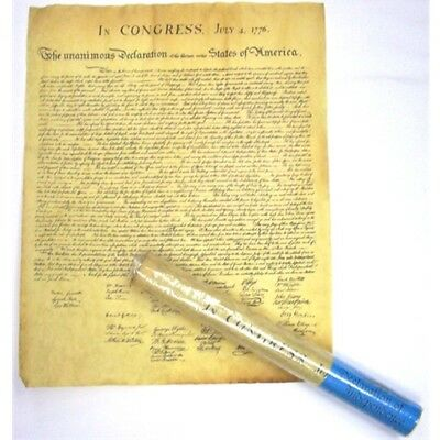 Historic Document Declaration of Independence Genuine Parchment   23 x 29 37394