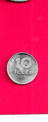 Hungary Km572 1977 Old Unc-Mint 10 Filler Small Coin Free Us Shipping