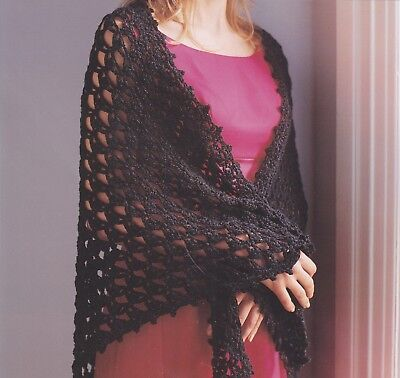 Lacy Evening Shawlapparel Crochet Pattern Instructions Only