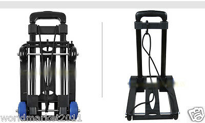 New Convenient Black Mini Four Wheels Collapsible Shopping Luggage Trolleys
