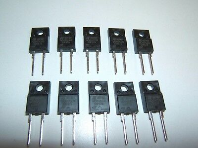 (10) Pcs St Microelectronics Schottky Diode Stps1545F To-220-2Fp. Nos See Specs