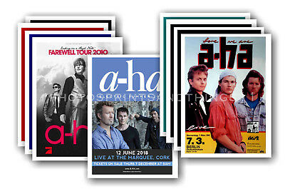 A-Ha  - 10 promotional posters - collectable postcard set # 3