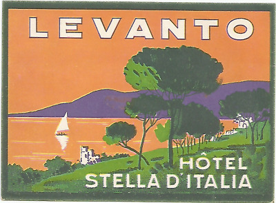 HOTEL STELLA D'ITALIA luggage DECO label (LEVANTO)