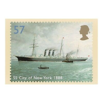 SS CITY OF NEW YORK - 1888 OCEAN LINER Raphael Monleon y Torres PHQ 264 POSTCARD