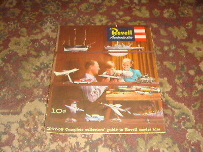 1957-58 Revell Authentic Kits CATALOG and Guide - FREE SHIPPING