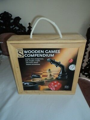 Games compendium including chess, backgammon, ludo, draughts, dominoes, etc. etc