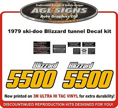 1979 Ski-doo  Blizzard 5500 Tunnel  Reproduction decals