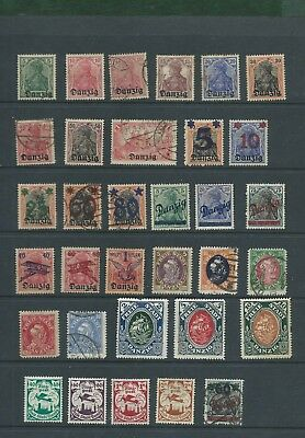 Poland Polska Danzig Free State stamp collection of MH and used old stamps