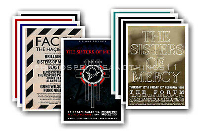 SISTERS OF MERCY  - 10 promotional posters - collectable postcard set # 1