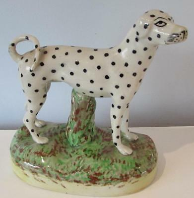 Large Antique 19thC Staffordshire Dalmatian Dog on Base Circa 1860