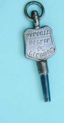 watchmakers Advertising Pocket watch Key By Mansell Silver St Lincoln OLD key