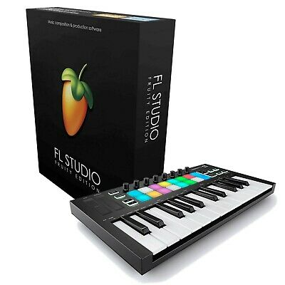 FL Studio 20 Fruity Bundle Image Line W/ Mini USB MIDI Keyboard *New*
