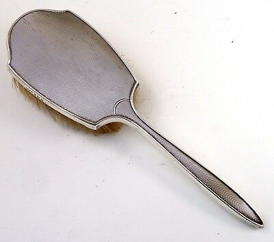 Silver Mounted Brush 1953 Hallmarked Sterling By William Griffiths & Sons