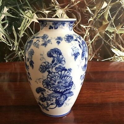 Rosenthal Germany Art Department, Fine Vase with floral decoration in Blue
