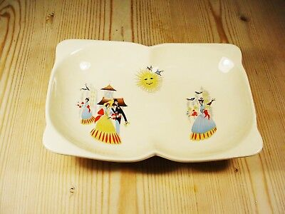 Beswick 1950s Happy Morn Two-Division Dish