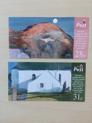 2007 ISLE OF MAN STAMP BOOKLET SB67/SB68 'WATERCOLOUR PAINTING' 28p & 31p Stamps