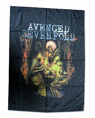 Avenged Sevenfold Fire Skeleton Nylon Wall Flag Fabric Poster New Official Music