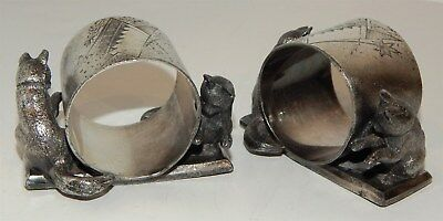 "Pair Of American ""Reed & Barton"" Antique Silver Plated Napkin Rings"