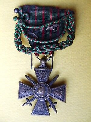 Medaille  Croix Guerre 1914 1918 Citations Mini Fouragere