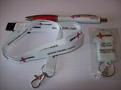 Nic Eic Lanyard Pen & Light Key Fob - Electrician Competent Person Scheme Niceic