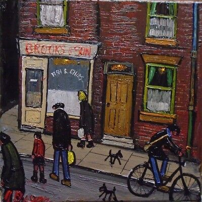 THE CHIP SHOP orginal oil  by james downie