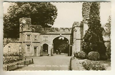 Valentine's Real Photo Post Card of Cassiobury Park. Entrance From Park, Watford
