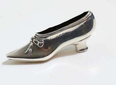 A solid silver pin cushion in the shape of a shoe Birm. 1920 levi salaman