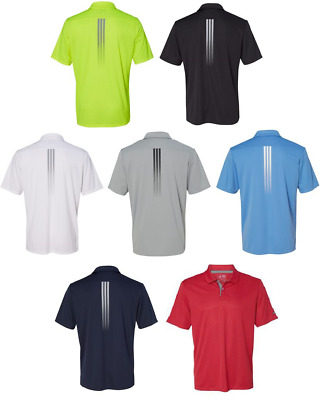 ADIDAS GOLF - Gradient 3-Stripes Polo, Mens S-3XL, Climalite Sport Shirt A206