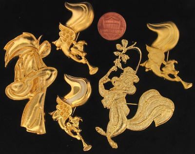 5 Piece Lot Pepe Le Pew Brooch Pins Angels Warner Bros Looney Tunes Wb Store L9