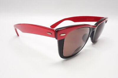 NICE Vtg Ray Ban B&L Wayfarer 5022 Black & Red USA Rx Sunglasses Frames 50 6579