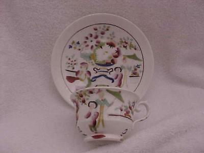 Gaudy Welsh Chinois Motif Cup and Saucer -- MINT