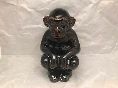 "Maitland-Smith Ceramic Monkey Hand Made in Thailand #1045-295 - 6"" Tall"