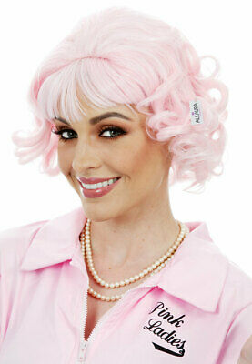 Pink Beauty School Dropout Ladies Costume Wig (Grease Frenchy) - by Allaura